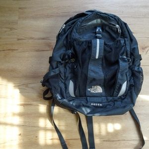 Used North Face Recon Black Backpack